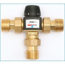 Zawór termostatyczny 3-drogowy ze śrubunkami