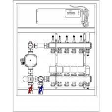 Zestaw 2 – rozdzielacz podłogowy z siłownikami, grupą pompową i listwą sterującą TECH L5 + szafka podtynkowa
